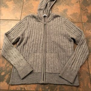 4/$25 - Gray zip up sweater